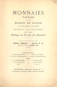 catalogo asta 1922