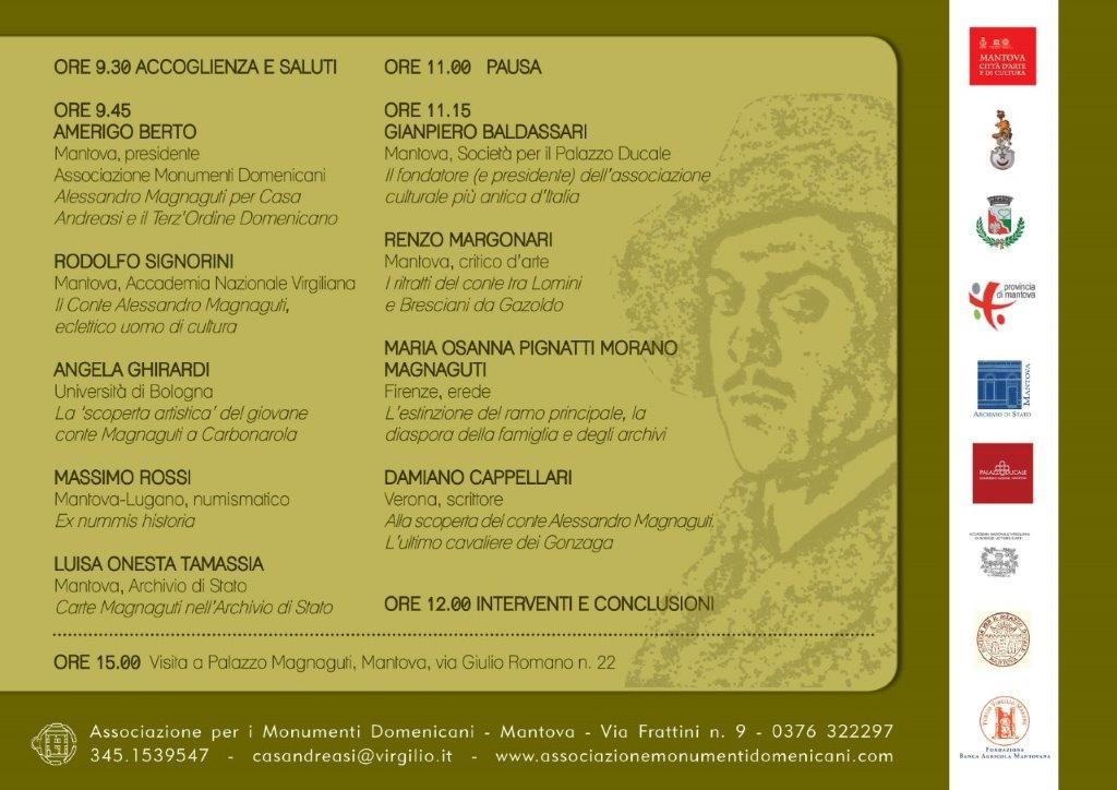 Conferenza sul Conte Alessandro Magnaguti