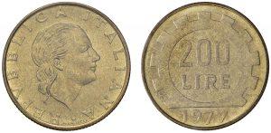 prova 200 lire 1977