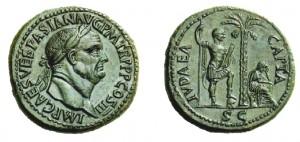 sesterzio di Vespasiano del 71