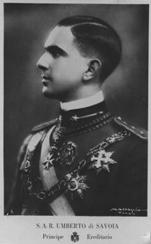 Il principe ereditario Umberto di Savoia