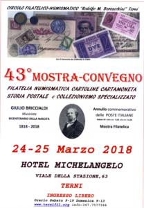 Convegno Filatelico Numismatico, cartamoneta, cartoline.